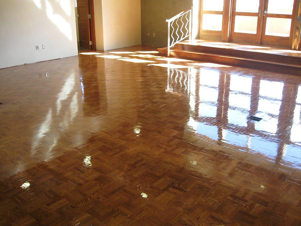Weekly sweeping will prevent marring floors benchmark for Hardwood floors albuquerque