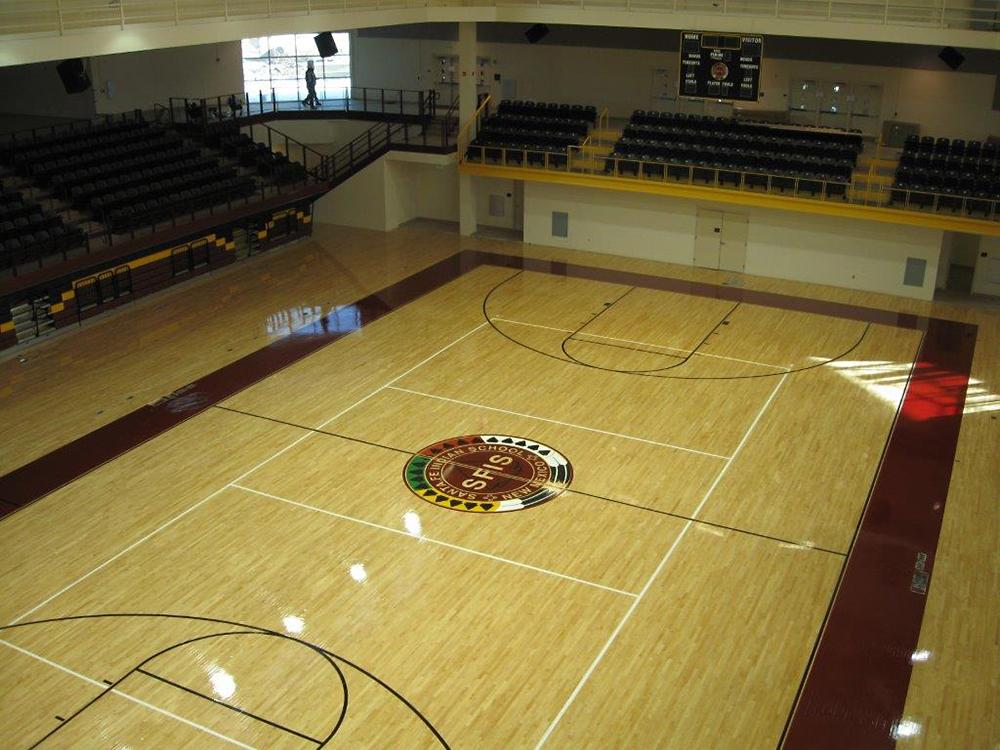 Albuquerque To Santa Fe >> Santa Fe Indian School Gym - Benchmark Woodfloors - Albuquerque, New Mexico