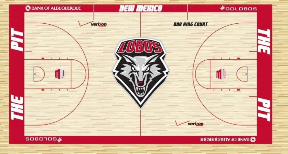 UNM basketball: Lobos unveil new design for Pit floor